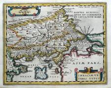 GREECE, TURKEY, THRACIA, Van Den Keere, Cluver original antique map 1661