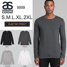 AS Colour Long Sleeve T-SHIRT Blank Plain Print Ink Tee S - 2XL Mens Cotton 5009