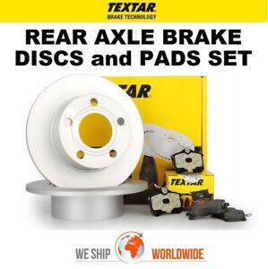 TEXTAR Rear Axle BRAKE DISCS + PADS SET for PEUGEOT 307 Break 2.0 2002-2005