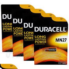 4 x Duracell Alkaline MN27 12V batteries A27 GP27A E27A EL812 EXP:2020
