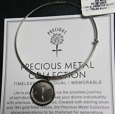 Alex and Ani Precious Collection Initial N Letter Sterling Silver Bracelet