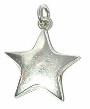 necklace charm vintage used Sterling Silver Puffy Star Pendant