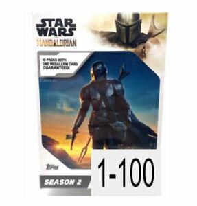 2021 Topps Star Wars The Mandalorian Season 2 Trading Cards Singles - You Pick!