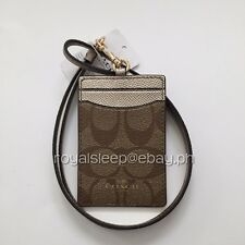 COACH Signature Lanyard Badge ID Holder *Brand New with Tag* Credit Card Holder