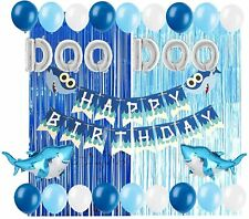 Baby Shark Party Supplies Decorations DOO DOO Foil Balloons Shark Birthday Banne