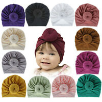 Toddler Kids Headband Hat Cotton Turban Knotted Bow Stretch Headband Accessory