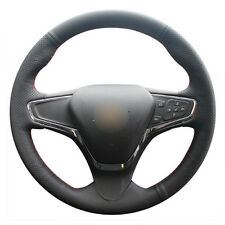 Top Leather Steering Wheel Hand-stitch on Wrap Cover For Chevy Cruze Volt