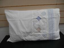 PILLOWCASES  NATURAL WHITE/BLUE MODERN CASCADE HOME & ONE PAIR FREE  NEW