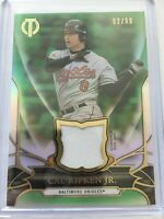 Topps Tribute 2016 Game Used Relic Memorbilia HOF Cal Ripken Jr. Green 82/99