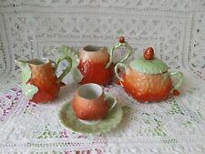 Royal Bayreuth Bavaria Strawberry Collection Cream, Sugar, Cup, Saucer