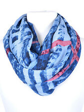 Blue and Multi Plaid Infinty Scarf