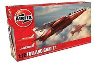 AIRFIX® 1:72 SCALE FOLLAND GNAT T.1 AIRCRAFT MODEL KIT RAF RED ARROWS A02105