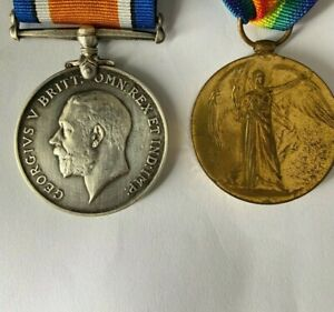 WW1 Medal Pair British War Medal and Victory Medal