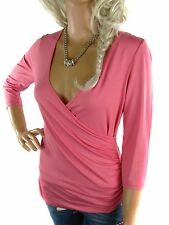 Viscose Patternless Wrap Tops & Shirts for Women