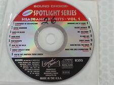 Sound Choice Karaoke Spotlight Series SC8252 Headbanger's Hits Vol 1 CDG CD+G