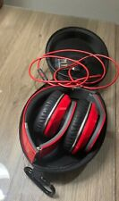 Monster Beats by Dr Dre Studio WIRED Over-the-Ear Headphone Red