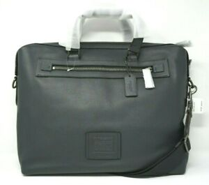 Coach Academy Holdall Midnight Navy Pebble Leather Briefcase 32251