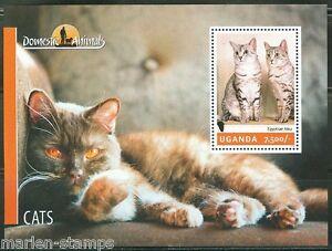 UGANDA 2014 DOMESTIC ANIMALS CATS  SHEET  MINT NH