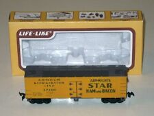 Vintage Life-Like HO Scale ARMOUR's Star HAM & BACON Reefer Car #37160 in Box!