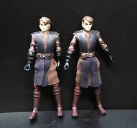 "LOT of 2 star wars luke ACTION FIGURE 3.75"" loose #DFR4"