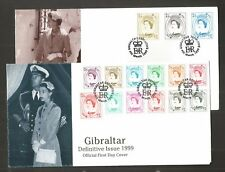 GIBRALTAR 1999 TWO DEFINITIVE FDC'S SG,857-871 LOT 5126A