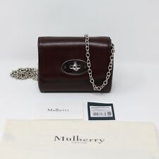 New Mulberry Mini Lily Wallet on Chain Burgundy Crossbody Bag