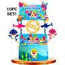 CUPCAKE TOPPER CAKE BABY SHARK Party Supplies BALLOON BANNER DECORATION