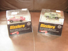Hot Wheels Sizzlers Hot Head and Firebird Trans Am with Cases