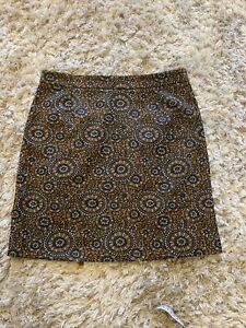TU Retro Patterned Mini Skirt Size 8
