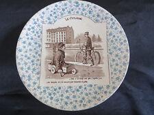 Assiette ! Ancienne ! Le Cyclisme ! Digoin & Sarreguemines !