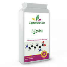 L-Lysine 1000mg 90 Tablets - HIGH STRENGTH Lysine Amino Acid Supplement UK Made