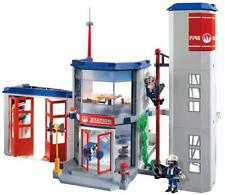 PLAYMOBIL City FIREMAN FIRE STATION #4819 - 323 pieces NEW SEALED 16inch*22inch