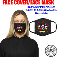 Mickey Mouse Christmas Ornament Face Mask Funny Holiday Xmas Festive Gift Santa