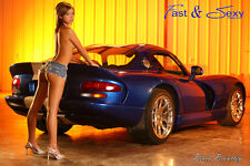 Nice Ass Rear View Dodge Viper GTS Poster