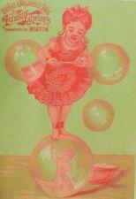 1880's Brooks & Walbridge Bros. Furniture Carpets Girl Balancing On Bubbles P67