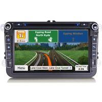 "8"" GPS Sat Nav Radio Bluetooth RDS Car DVD Player USB Stereo For VW SKODA & SEAT"