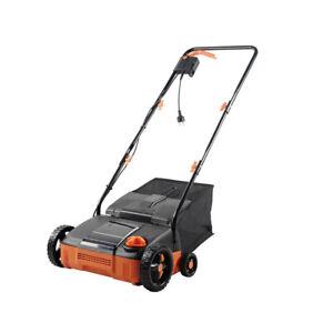 Powerful Lawn Dethatcher 4-cutting Weeding Corded Foldable Electric Scarifier