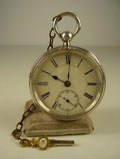 Antike echt Silber Schlüssel Taschenuhr Birdsall / Skipton. vor 1900