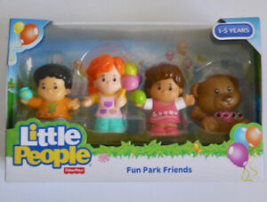LITTLE PEOPLE FUN PARK FRIENDS PACK OF 4 FIGURES FISHER-PRICE (1-5 YEARS) *NEW*