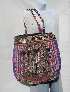 Authentic Gypsy Banjara|XLG Tote|Shoulder Bag|Boho|Bohemian|60s|Patchwork Style|