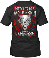 Machine washable Vikings !!! - Better To Be A Wolf Of Odin Premium Tee T-Shirt