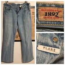 Vtg Abercrombie & Fitch 1892 Men Flare Boot Jeans Size 33 X 34 Cali Surf Hipster