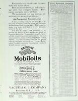 1917 Gargoyle Mobiloils Print Ad - Vacuum Oil Company Ad Jan 1917