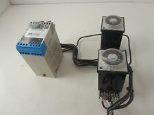 Aromat PM48-100H-AC120V Multirange Timer Lot of 2 with bases and MTL2213 relay