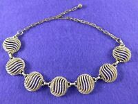 Vintage Necklace Gold Tone Choker Chain