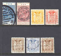 NEW ZEALAND POSTAL FISCAL CXLS VALUES TO $75 SCV COLLECTION LOT