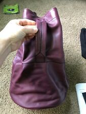 Rag & Bone Walker Drawstring Leather Backpack Burgundy $395