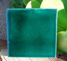 "10~MEXICAN TALAVERA POTTERY 4"" tile Hand Painted clay kiln fired EMERALD GREEN"