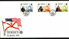 Jersey 1992 Europa, Discovery Of America FDC First Day Cover #C42299