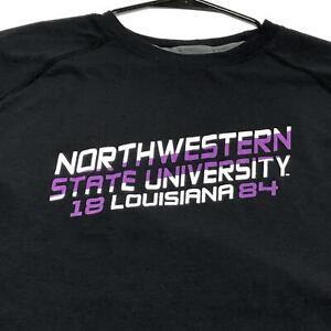 Northwestern State University NSU Champion Adult Long Sleeve T Shirt XL Purple